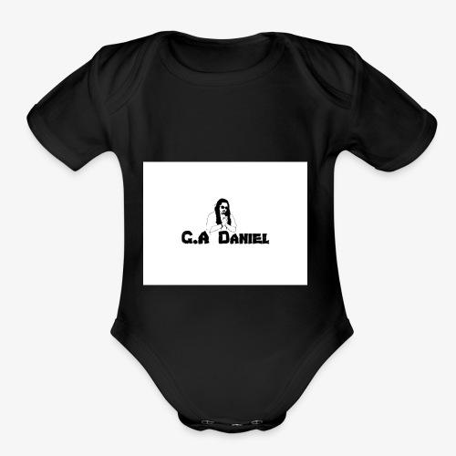 Black Jesus G.A Daniel - Organic Short Sleeve Baby Bodysuit