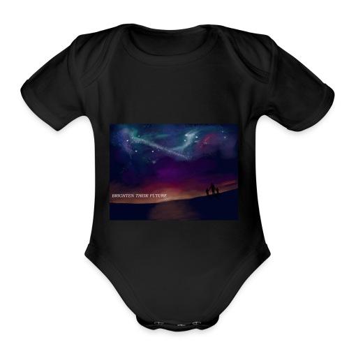 BRIGHTEN THERE FUTURE - Organic Short Sleeve Baby Bodysuit