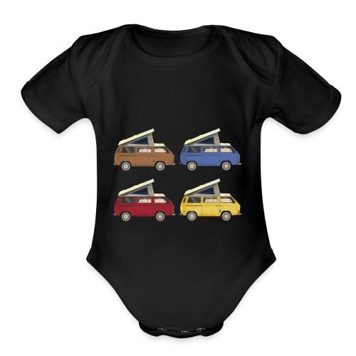 Van vanlife - Organic Short Sleeve Baby Bodysuit