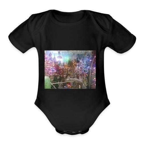 Happy holidays - Organic Short Sleeve Baby Bodysuit