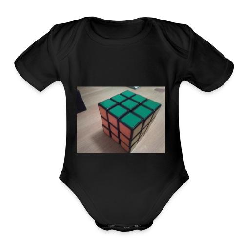 My Puzzle Cube - Organic Short Sleeve Baby Bodysuit