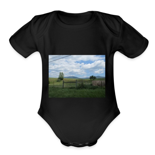IMG 0109lonely field but beautiful - Organic Short Sleeve Baby Bodysuit