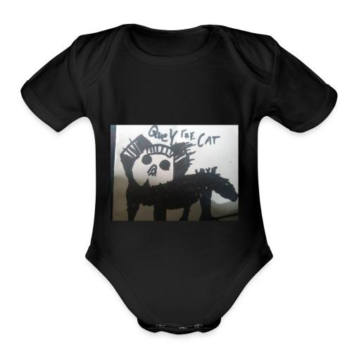 Quey The Cat - Organic Short Sleeve Baby Bodysuit