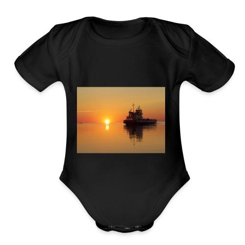 030 - Organic Short Sleeve Baby Bodysuit