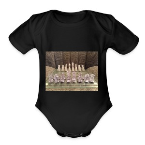 Chess bord - Short Sleeve Baby Bodysuit