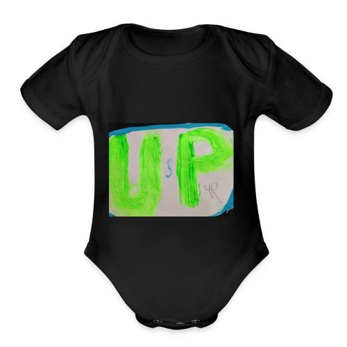unspeakable logo murch - Organic Short Sleeve Baby Bodysuit