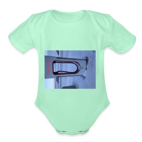 DC65CD4E 968F 4209 908B 3F6F3A7279D1 - Organic Short Sleeve Baby Bodysuit