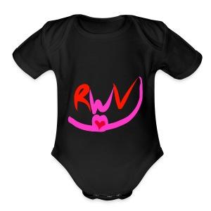 happy valentines merch - Short Sleeve Baby Bodysuit