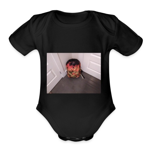 Fire ball - Organic Short Sleeve Baby Bodysuit