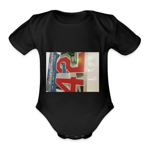 42 - Organic Short Sleeve Baby Bodysuit