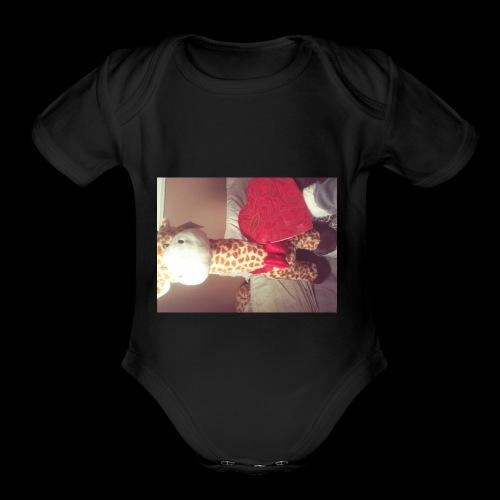 Valentines love - Organic Short Sleeve Baby Bodysuit