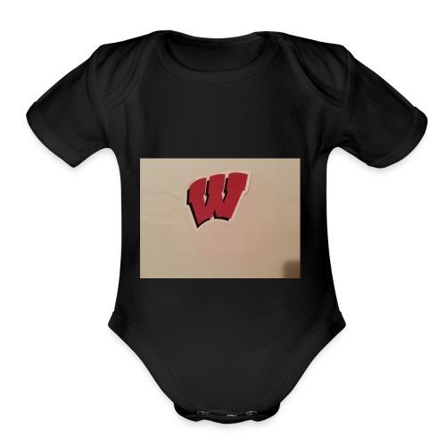 Wisconsin badgers - Organic Short Sleeve Baby Bodysuit