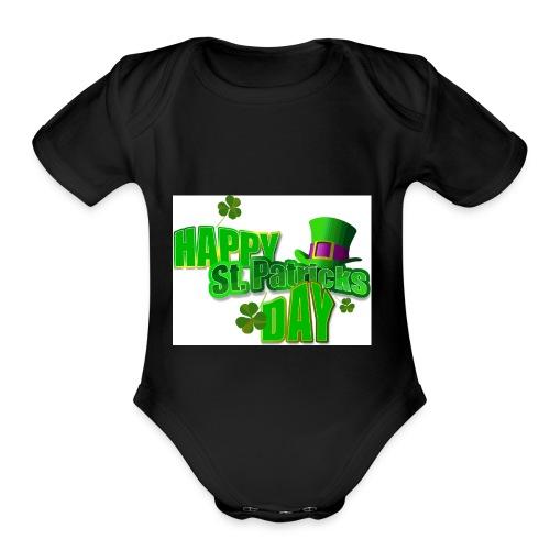 saint patrick day merch - Organic Short Sleeve Baby Bodysuit