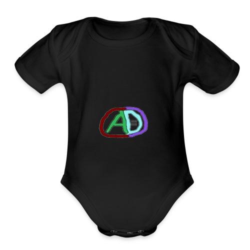 hoodies with anmol and daniel logo - Organic Short Sleeve Baby Bodysuit