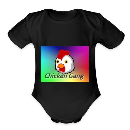 Chicken gang - Organic Short Sleeve Baby Bodysuit