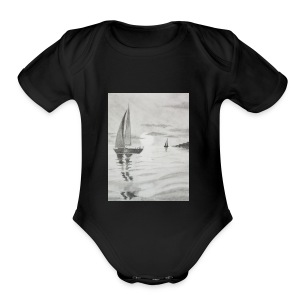 Boat At Sea - Short Sleeve Baby Bodysuit