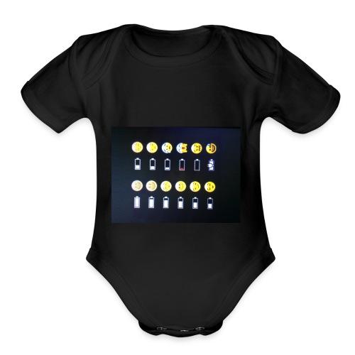 Battery life !?!!! - Organic Short Sleeve Baby Bodysuit