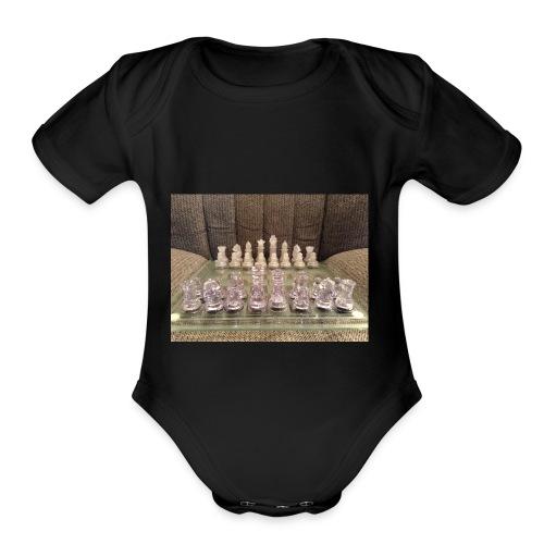 Chess bord - Organic Short Sleeve Baby Bodysuit