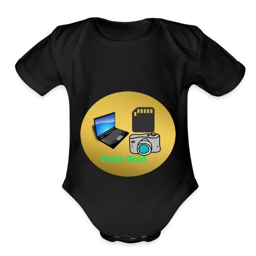 Pesto Gold - Organic Short Sleeve Baby Bodysuit