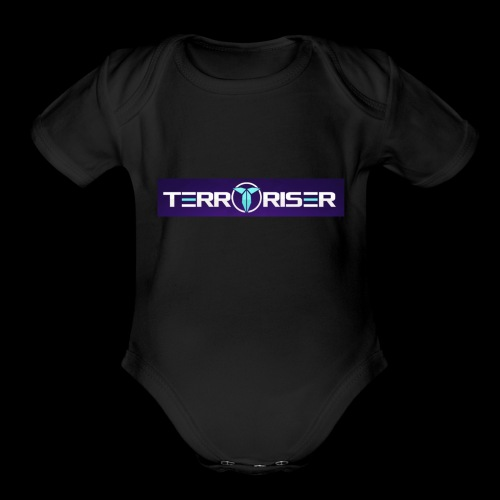 terroriser purple logo twitch 2 - Organic Short Sleeve Baby Bodysuit