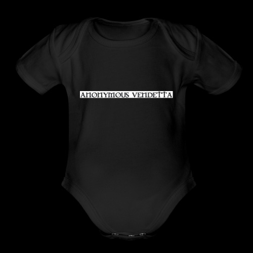 Anonymous Vendetta - Organic Short Sleeve Baby Bodysuit