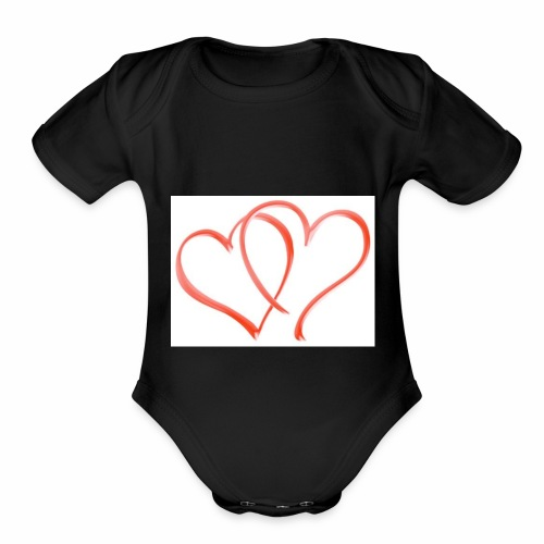 Double the Love - Organic Short Sleeve Baby Bodysuit