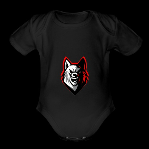 wolf logo by supreme_gamer7 - Organic Short Sleeve Baby Bodysuit