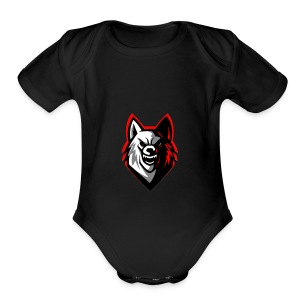 wolf logo by supreme_gamer7 - Short Sleeve Baby Bodysuit