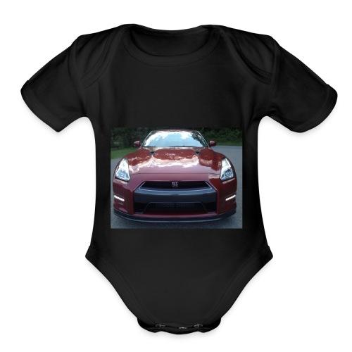 Red GTR - Organic Short Sleeve Baby Bodysuit