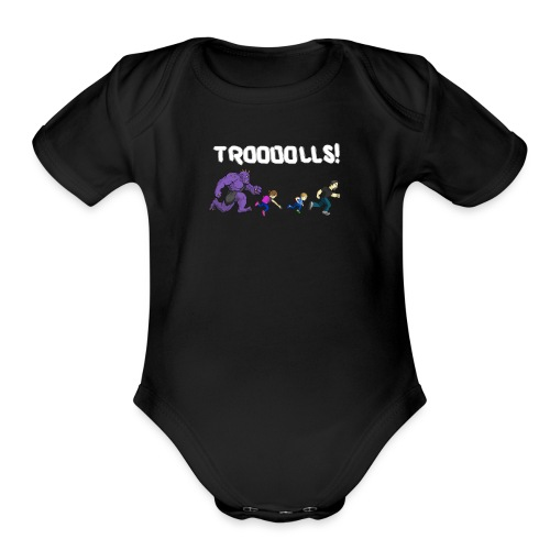 Troooolls TShirt EveryoneRunning png - Organic Short Sleeve Baby Bodysuit