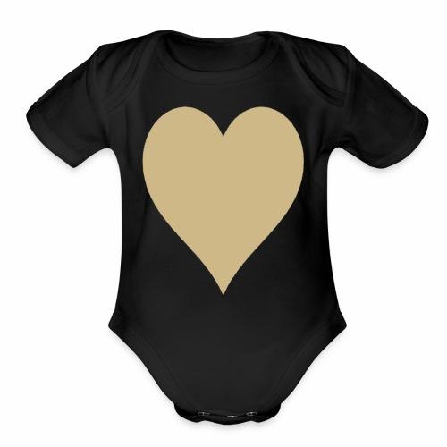 Gold Heart - Organic Short Sleeve Baby Bodysuit