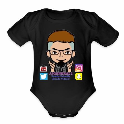 JJGeneral1 Logo - Organic Short Sleeve Baby Bodysuit