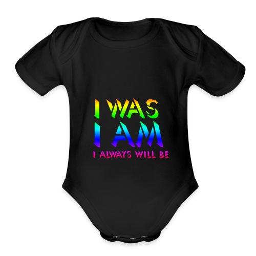 Transparent - Organic Short Sleeve Baby Bodysuit