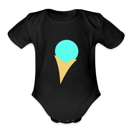 Bubble Gum Ice-Cream - Organic Short Sleeve Baby Bodysuit