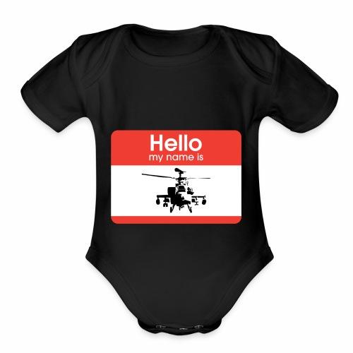 Apache is the name - Organic Short Sleeve Baby Bodysuit