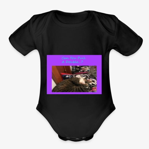 Pull A Double? - Organic Short Sleeve Baby Bodysuit