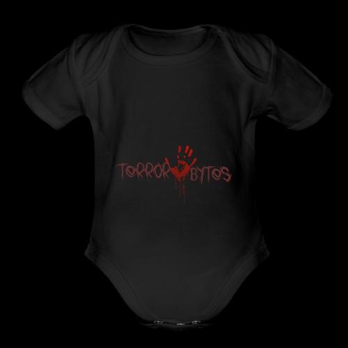 Terror-Bytes Blood Hand - Organic Short Sleeve Baby Bodysuit