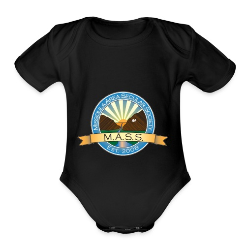 Missoula Area Secular Society Logo - Organic Short Sleeve Baby Bodysuit
