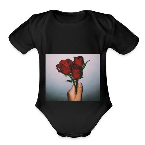 Dead Roses Hoddie - Organic Short Sleeve Baby Bodysuit