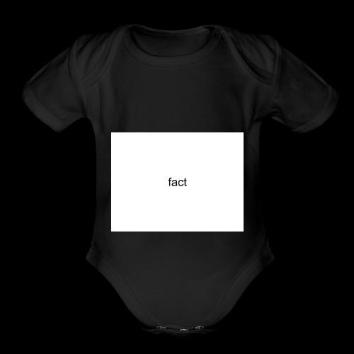 fact - Organic Short Sleeve Baby Bodysuit
