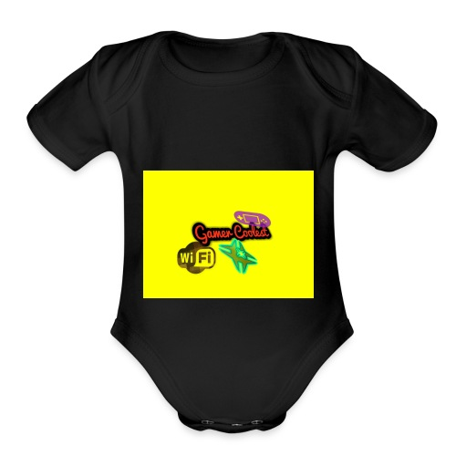 Gamer coolest - Organic Short Sleeve Baby Bodysuit