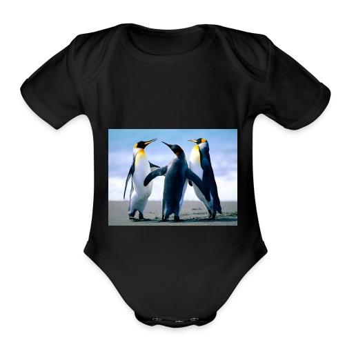 Penguins - Organic Short Sleeve Baby Bodysuit