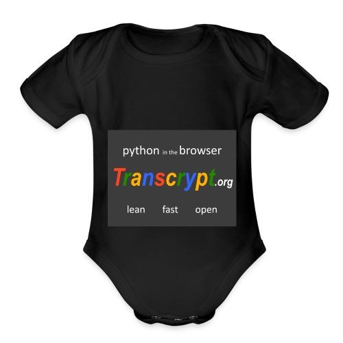 Transcrypt Logo - Organic Short Sleeve Baby Bodysuit