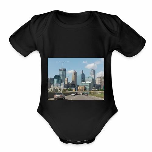 Minneapolis - Organic Short Sleeve Baby Bodysuit