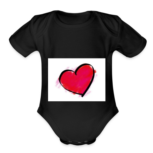 heart 192957 960 720 - Organic Short Sleeve Baby Bodysuit