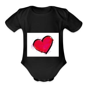 heart 192957 960 720 - Short Sleeve Baby Bodysuit