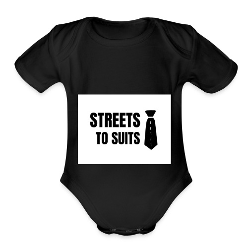 Streets To Suits - Organic Short Sleeve Baby Bodysuit