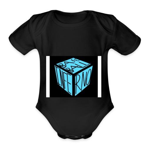 baseball inferno 1 - Organic Short Sleeve Baby Bodysuit