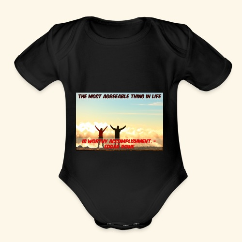 Worthy Accomplishment - Organic Short Sleeve Baby Bodysuit