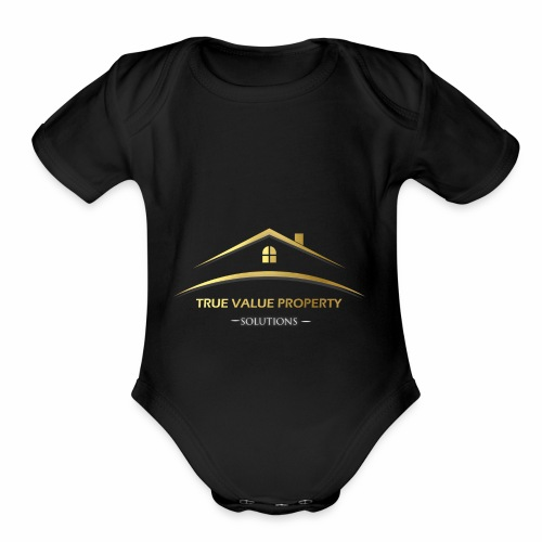 True Value Property Official - Organic Short Sleeve Baby Bodysuit